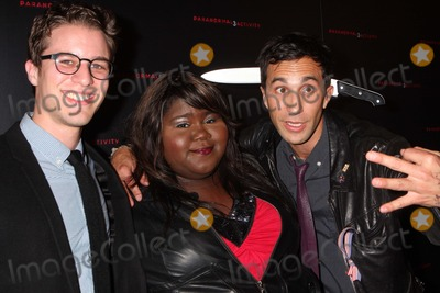 Ariel Schulman Photo - Directors Henry Joost and Ariel Schulman with Gabourey Gabby Sidibe at a Super Fan Screening of Paranormal Activity 3 at Regal Union Square Stadium 14 in New York City on 10-18-2011 Photo by Henry Mcgee-Globe Photos Inc 2011