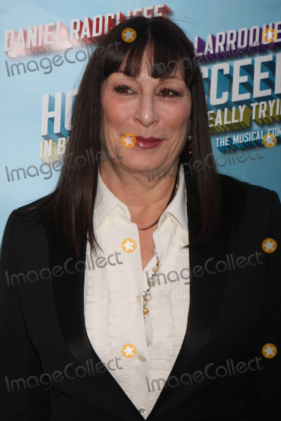 Al Hirschfeld Photo - Anjelica Huston Arriving at the Opening Night Performance of How to Succeed in Business Without Really Trying at the Al Hirschfeld Theatre in New York City on 03-27-2011 photo by Henry Mcgee-globe Photos Inc 2011