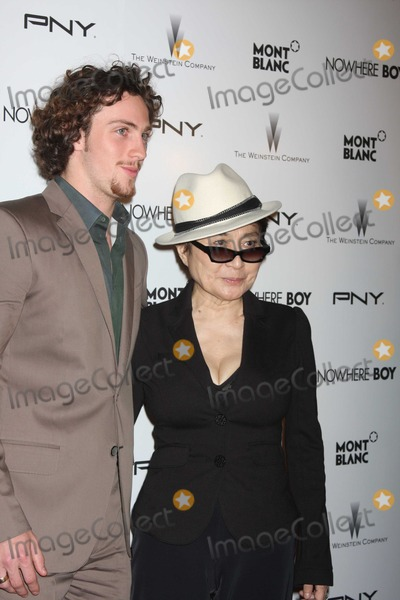 Aaron Johnson Photo - NYC  092110Aaron Johnson (who play John Lennon) and Yoko Ono at a screening of his new movie Nowhere Boy (the untold story of John Lennon) at the Tribeca Performing Arts CenterPhoto by Adam Nemser-PHOTOlinknet