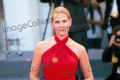 Asne Seierstad Photo - VENICE ITALY - SEPTEMBER 05 Asne Seierstad walks the red carpet ahead of the 22 July screening during the 75th Venice Film Festival at Sala Grande on September 5 2018 in Venice Italy(Photo by Laurent KoffelImageCollectcom)