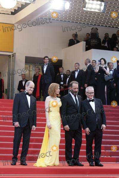 Thierry Fremaux Photo - CANNES FRANCE - MAY 11 President of the festival Pierre Lescure actress Jessica Chastain Vincent Lindon and Director of the festival Thierry Fremaux attend the Cafe Society premiere and the Opening Night Gala during the 69th annual Cannes Film Festival at the Palais des Festivals on May 11 2016 in Cannes France(Photo by Laurent KoffelImageCollectcom)