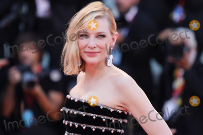 CATE BLANCHETTE Photo - VENICE ITALY - AUGUST 31 Cate Blanchett walks the red carpet ahead of the Joker screening during the 76th Venice Film Festival at Sala Grande on August 31 2019 in Venice Italy (Photo by Laurent KoffelImageCollectcom)