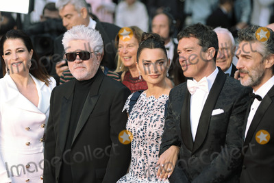 Pedro Almodovar Photo - CANNES FRANCE - MAY 17 Nora Navas Pedro Almodovar Penelope Cruz Antonio Banderas and Leonardo Sbaraglia attend the screening of Pain And Glory (Dolor Y Gloria Douleur Et Gloire) during the 72nd annual Cannes Film Festival on May 17 2019 in Cannes France (Photo by Laurent KoffelImageCollectcom)