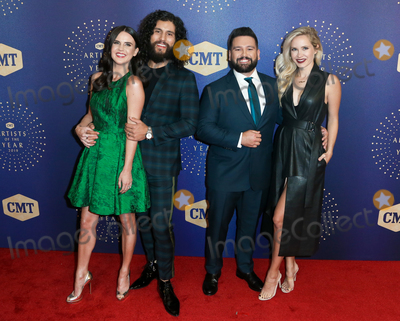 Shay Photo - NASHVILLE TEN - OCT 16 (L-R) Hannah Smyers Dan Smyers Shay Mooney and Abby Mooney attend the 2019 CMT Artists of the Year at Schermerhorn Symphony Center on October 16 2019 in Nashville Tennessee