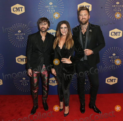 Dave Haywood Photo - NASHVILLE TEN - OCT 16 (L-R) Dave Haywood Hilary Scott Charles Kelley of Lady Antebellum attend the 2019 CMT Artists of the Year at Schermerhorn Symphony Center on October 16 2019 in Nashville Tennessee