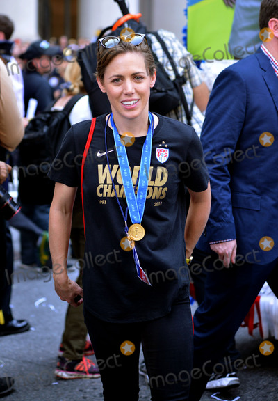 Team Member Photo - July 10 2015 New York CityA player of the winning US Womens soccer team at the ticker tape parade for the World Cup Champions US Womens Soccer National Team on July 10 2015 in New York CityBy Line Curtis MeansACE PicturesACE Pictures Inctel 646 769 0430