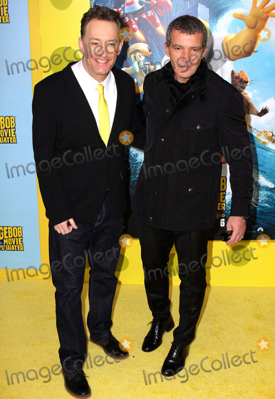 Tom Kenny Photo - January 31 2015 New York CityTom Kenny (L) and Antonio Banderas arriving at The Spongebob Movie Sponge Out Of Water world premiere at AMC Lincoln Square Theater onJanuary 31 2015 in New York CityBy Line Nancy RiveraACE PicturesACE Pictures Inctel 646 769 0430