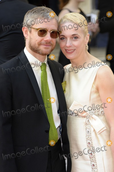 Amanda Abbington Photo - May 18 2014 LondonMartin Freeman and Amanda Abbington arriving at the Arqiva British Academy Television Awards at Theatre Royal on May 18 2014 in London England