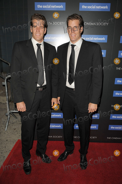 Cameron Winklevoss Photo - Cameron Winklevoss and Tyler Winklevoss attend Columbia Pictures and The Cinema Societys screening of The Social Network at the School of Visual Arts Theater on September 29 2010 in New York City