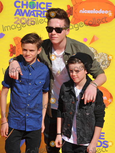 Brooklyn Beckham Photo - March 28 2015 LABrothers (L-R) Romeo James Beckham Brooklyn Joseph Beckham and Cruz David Beckham arriving at Nickelodeons 28th Annual Kids Choice Awards at The Forum on March 28 2015 in Inglewood California By Line Peter WestACE PicturesACE Pictures Inctel 646 769 0430