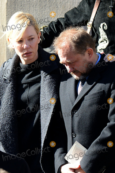 Andrew Upton Photo - February 7 2014 New York CityCate Blanchett and Andrew Upton attending Philip Seymour Hoffmans funeral at St Ignatius Loyola Church in Manhattan on February 7 2014 in New York City