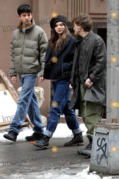 Asa Butterfield Photo - January 27 2014 New York CityActors Asa Butterfield Hailee Steinfeld and Emile Hirsch on the Brooklyn set of the new movie Ten Thousand Saints onJanuary 27 2014 in New York City