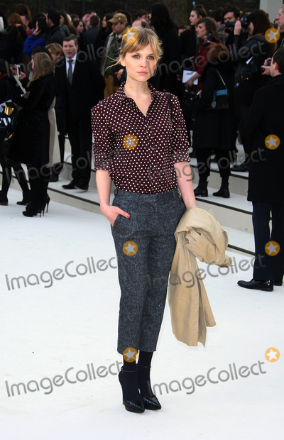 Clemence Posey Photo - February 20 2012 LondonClemence Posey at the Burberry Prorsum show during London Fashion Week on February 20 2012 in London