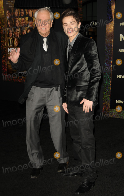 Jake T Austin Photo - Hector Elizondo and Jake T Austin arriving at the premiere of New Years Eve at Graumans Chinese Theatre on December 5 2011 in Hollywood