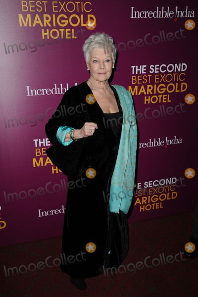 Judi Dench Photo - March 3 2015 New York CityJudi Dench attends The Second Best Exotic Marigold Hotel New York Premiere at the Ziegfeld Theater on March 3 2015 in New York City Please byline Kristin CallahanAcePicturesACEPIXSCOMTel (646) 769 0430