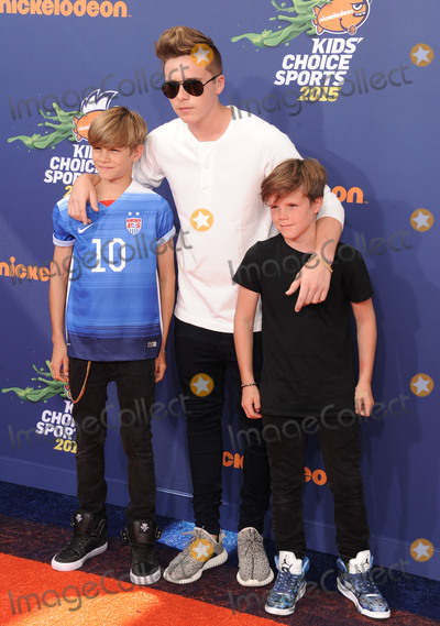 Brooklyn Beckham Photo - July 16 2015 LA(L-R) Romeo Beckham Brooklyn Beckham and Cruz Beckham arriving at the Nickelodeon Kids Choice Sports Awards 2015 at UCLAs Pauley Pavilion on July 16 2015 in Westwood CaliforniaBy Line Peter WestACE PicturesACE Pictures Inctel 646 769 0430