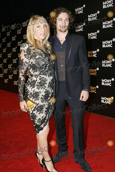 Aaron Johnson Photo - Director Sam Taylor-Wood and fiance Aaron Johnson attend the launch of the Montblanc John Lennon Edition at Jazz at Lincoln Center on September 12 2010 in New York City