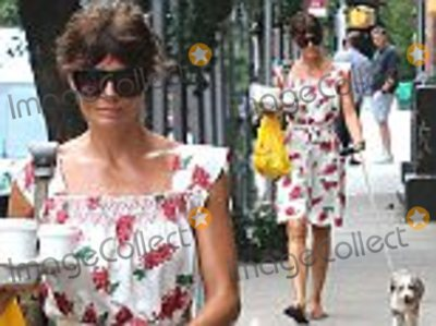 Helena Christensen Photo - 15 July 2016 - New York NY  - USASTRICTLY AVAILABLE FOR UK AND GERMANY USE ONLYHelena Christensen has her hands full as she walks her pup with coffees in hand as she exudes Summer stile in a cute white and pink floral printed dressBYLINE MUST READ  AKM-GSI-XPOSUREUK CLIENTS - PICTURES CONTAINING CHILDREN PLEASE PIXELATE FACE PRIOR TO PUBLICATION UK CLIENTS MUST CALL PRIOR TO TV OR ONLINE USAGE PLEASE TELEPHONE 0208 344 2007