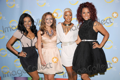 Denyce Lawton Photo - April 25 2012 New York City  Denyce Lawton Kelly Marie Dunn Eva Marcille and Nikki Chu of Girlfriend Confidential LA attend Oxygen Upfront 2012 at Dream Downtown on April 25 2012 in New York City