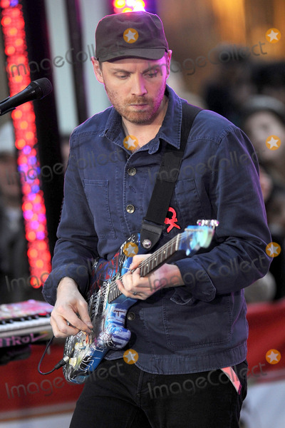 Jonny Buckland Photo - Coldplay performs on NBCs Today at Rockefeller Center on October 21 2011 in New York City