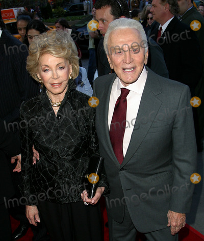 Anne Buydens-Douglas Photo - Kirk Douglas and Anne Buydens Douglas arrive at the world premiere of MGMs It Runs in the Family New York April 13 2003