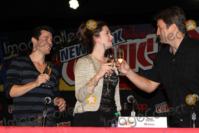 Jewel Staite Photo - October 13 2012 New York CitySean Maher Jewel Staite and Nathan Fillion at the 2012 New York Comic Con at the Javits Center on October 13 2012 in New York City