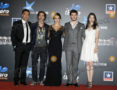 Astrid Berges-Frisbey Photo - Spanish actors Juan Carlos Vellido Oscar Jaenada Penelope Cruz British actor Sam Claflin and French actress Astrid-Berges Frisbey at the Pirates Of The Caribbean On Stranger Tides premiere at Kinepolis Cinema on May 18 2011 in Madrid Spain