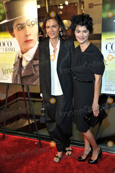 Anne Fontaine Photo - Director Anne Fontaine (L) and actress Audrey Tautou (R) at the premiere of the Sony Pictures movie Coco Before Chanel at the Silver Screen theatre in Los Angeles on September 9 2009