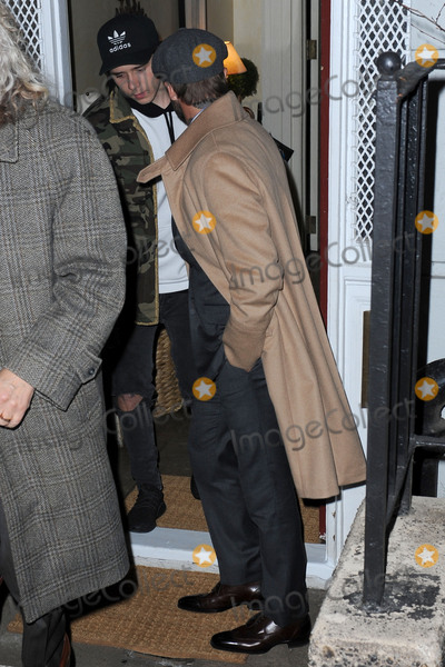 Brooklyn Beckham Photo - February 8 2016 New York CityBrooklyn Beckham and David Beckham leaving a party held at the residence of Anna Wintour on February 8 2016 in New York CityCredit Kristin CallahanACE PicturesTel (646) 769 0430