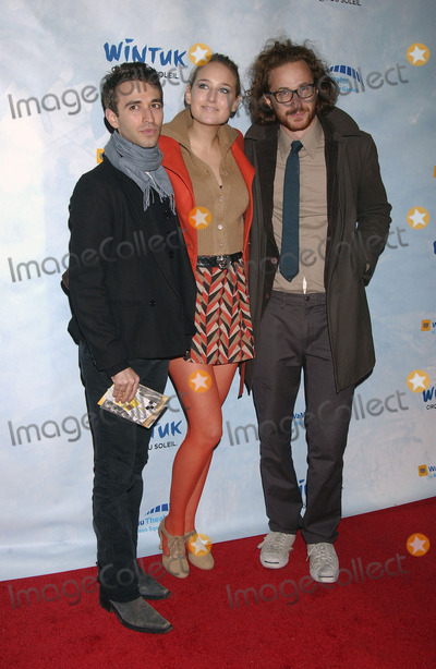 Leelee Sobieski Photo - Actress Leelee Sobieski (middle) and guests arrives at the Cirque du Soleils Wintuk World Premiere at Madison Square Garden