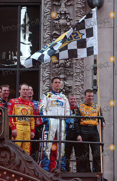 NASCAR DRIVERS Photo - Drivers attending the 2007 NASCAR Nextel Cup victory lap and breakfast at Hard Rock Cafe in Manhattan