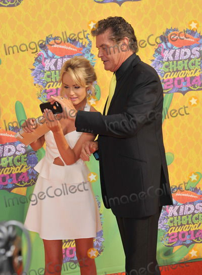 Hayley Roberts Photo - David Hasselhoff  Hayley Roberts at Nickelodeons 27th Annual Kids Choice Awards at the Galen Centre Los AngelesMarch 29 2014  Los Angeles CAPicture Paul Smith  Featureflash