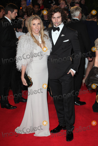 Aaron Johnson Photo - Aaron Johnson Sam Taylor-Wood arriving for the Royal World Premiere of Skyfall at Royal Albert Hall London 23102012 Picture by Alexandra Glen  Featureflash