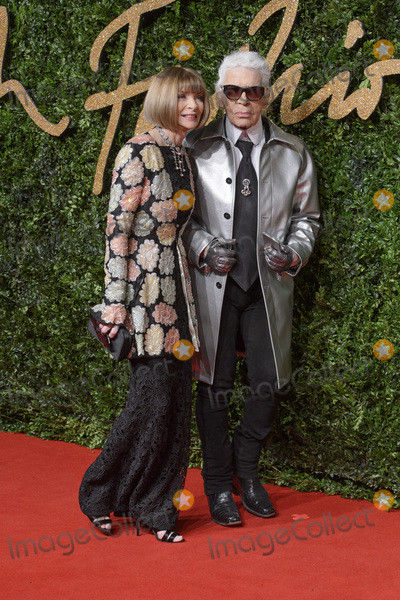 Anna Wintour Photo - Anna Wintour  Karl Lagerfeld at the British Fashion Awards 2015 at the Coliseum Theatre LondonNovember 23 2015  London UKPicture Dave Norton  Featureflash