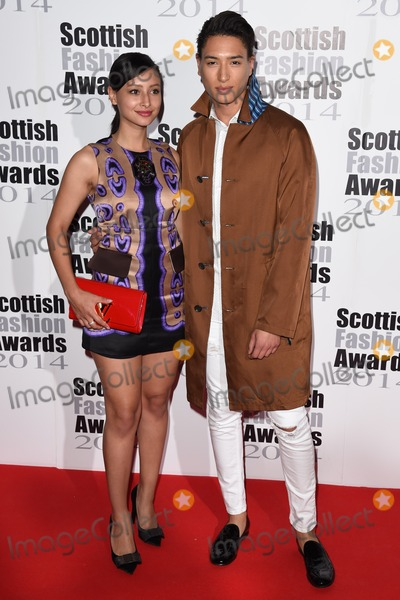 Nat Weller Photo - Leah and Nat Weller at the Scottish Fashion awards 2014 at No8 Northumberland Avenue London 01092014 Picture by Steve Vas  Featureflash