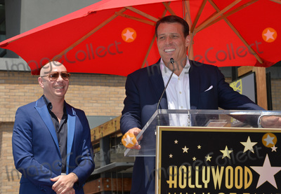 Tony Robbins Photo - LOS ANGELES CA July 15 2016 Singer Pitbull (Armando Christian Perez) with motivational speaker Tony Robbins on Hollywood Blvd where Pitbull was honored with the 2584th star on the Hollywood Walk of FamePicture Paul Smith  Featureflash