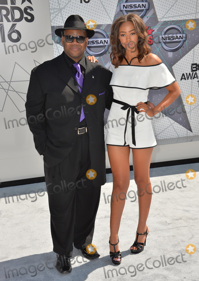 Bella Harris Photo - LOS ANGELES CA June 26 2016 Producer Jimmy Jam  daughter model Bella Harris at the 2016 BET Awards at the Microsoft Theatre LA Live Picture Paul Smith  Featureflash