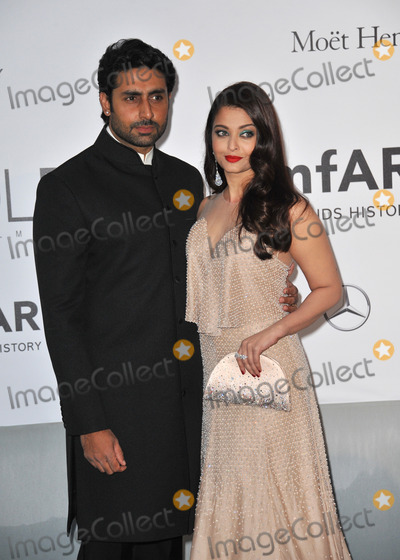 Aishwarya Ray Photo - Aishwarya Rai  husband Abhishek Bachchan  at the 21st annual amfAR Cinema Against AIDS Gala at the Hotel du Cap dAntibesMay 22 2014  Antibes FrancePicture Paul Smith  Featureflash