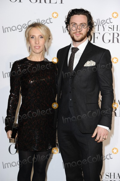 Aaron Johnson Photo - Sam Taylor Johnson and hubsand Aaron Johnson arriving for the Fifty Shades of Grey UK Premiere at Odeon Leicester Square London 12022015 Picture by Steve Vas  Featureflash