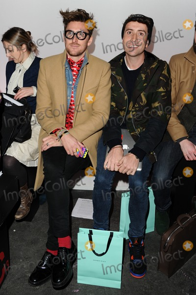 DJ Nick Photo - Henry Holland and DJ Nick Grimshaw at the Topman Design show as part of London Collections Men AW13 Old Sorting office London 07012013 Picture by Steve Vas  Featureflash