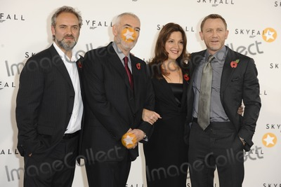 Michael Wilson Photo - Sam Mendes producers Barbara Broccoli and Michael G Wilson and actor Daniel Graig at the phoptocall to announce the start or production of the new James Bond film SKYFALL at Massimos restaurant London 03112011 Picture by Steve Vas  Featureflash