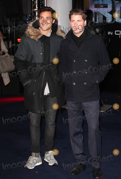 Andy Jordan Photo - Andy Jordan and Stevie Johnson  arriving for the World Premiere of RoboCop at the BFI IMAX London 05022014 Picture by Alexandra Glen  Featureflash