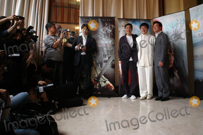 Tony Leung Ka Fai Photo - Actors JACKIE CHAN (in white)  TONY LEUNG KA FAI (left) director STANLEY TONG at the 58th Annual Film Festival de Cannes to promote their new movie The MythMay 17 2005 Cannes France 2005 Paul Smith  Featureflash