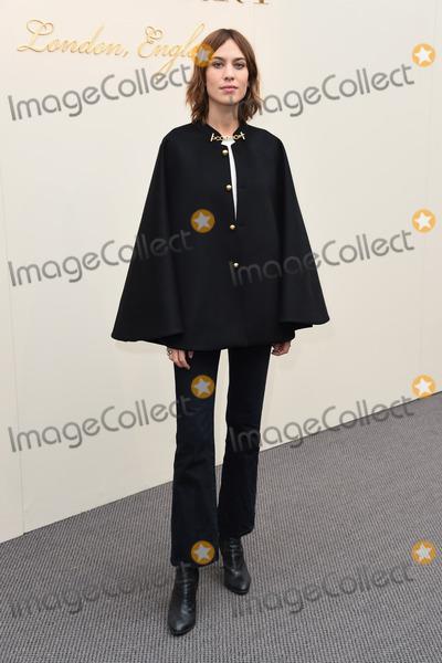 Alexa Chung Photo - Alexa Chung at the Burberry Prorsum show as part of London Fashion Week AW 2016  at Kensington Gardens LondonFebruary 22 2016  London UKPicture Steve Vas  Featureflash
