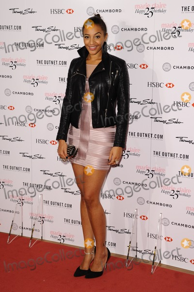 Amal Fashanu Photo - Amal Fashanu arriving for the Marie Claires 25th Anniversary celebration at the Cafe Royal Hotel London 17092013 Picture by Alexandra Glen  Featureflash