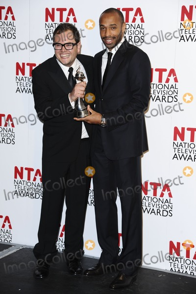 Alan Carr Photo - Thierry Henry and Alan Carr in The Winners Room at the 2012 National Television Awards held at the O2 Arena in London  25012012 Picture by Steve Vas  Featureflash