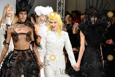 Alice Dellal Photo - Alice Dellal and Pam Hogg modelling at the Pam Hogg catwalk show as part of London Fashion Week SS13 Freemasons Hall Covent Garden London 17092012 Picture by Steve Vas  Featureflash