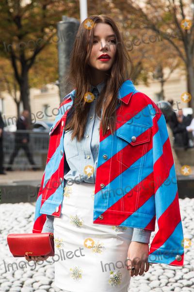Anya Taylor-Joy Photo - Anya Taylor-Joy attend Miu Miu Show Front Row - Paris Fashion Week  2016October 7 2015 Paris FrancePicture Kristina Afanasyeva  Featureflash