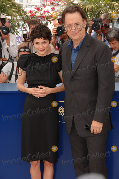 Audrey Tautou Photo - French actress AUDREY TAUTOU  actor TOM HANKS at the photocall for the cast of The Da Vinci Code at the 59th Annual International Film Festival de CannesMay 17 2006  Cannes France 2006 Paul Smith  Featureflash