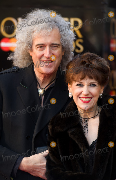 Anita Dobson Photo - Brian May and Anita Dobson arrives for the Olivier Awards 2012 at the Royal Opera House Covent Garden London 15042012 Picture by Simon Burchell  Featureflash